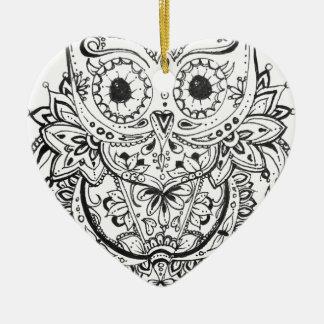 Ornement Cœur En Céramique Mandowla
