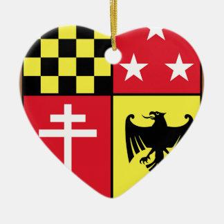 Ornement Cœur En Céramique Manteau des étoiles de croix d'Eagle de bras