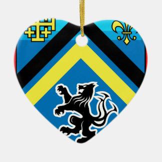 Ornement Cœur En Céramique Manteau des rayures du lion 2 de dragon de bras