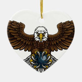 Ornement Cœur En Céramique Mascotte de roulement de sports d'Eagle