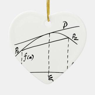 Ornement Cœur En Céramique mathématiques