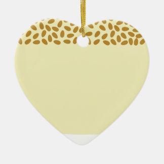Ornement Cœur En Céramique melon