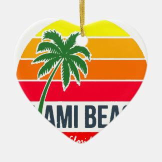 Ornement Cœur En Céramique Miami Beach