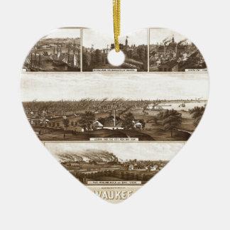 Ornement Cœur En Céramique Milwaukee 1882