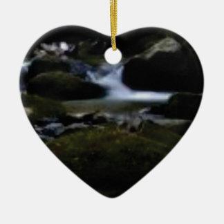 Ornement Cœur En Céramique Mini cascades