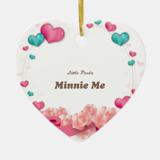 Ornement Cœur En Céramique Minnie je