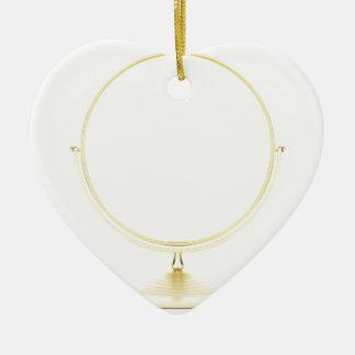 Ornement Cœur En Céramique Miroir de maquillage d'or