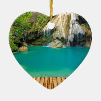 Ornement Cœur En Céramique Miscellaneous - Zen Waterfall Pattern Twenty-One
