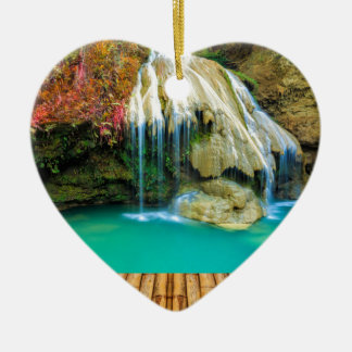 Ornement Cœur En Céramique Miscellaneous - Zen Waterfall Patterns Fifteen
