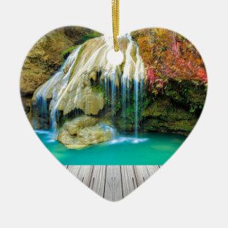 Ornement Cœur En Céramique Miscellaneous - Zen Waterfall Patterns Four