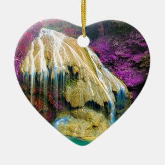 Ornement Cœur En Céramique Miscellaneous - Zen Waterfall Patterns Fourteen