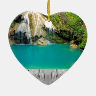 Ornement Cœur En Céramique Miscellaneous - Zen Waterfall Patterns Nine