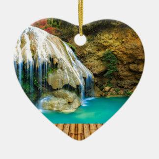 Ornement Cœur En Céramique Miscellaneous - Zen Waterfall Patterns Nineteen