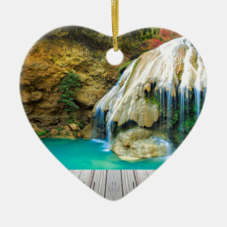 Ornement Cœur En Céramique Miscellaneous - Zen Waterfall Patterns One