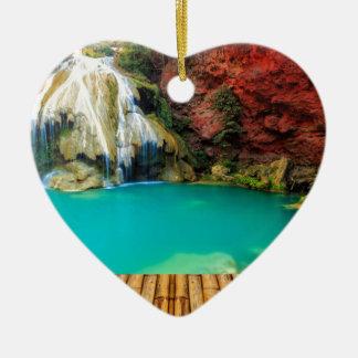 Ornement Cœur En Céramique Miscellaneous - Zen Waterfall Patterns Sixteen