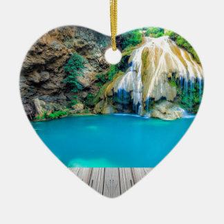 Ornement Cœur En Céramique Miscellaneous - Zen Waterfall Patterns Ten