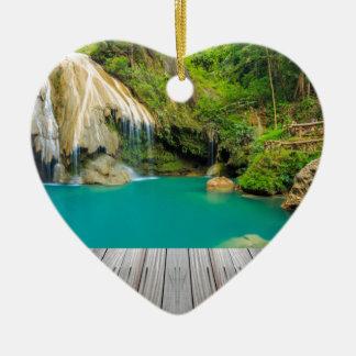 Ornement Cœur En Céramique Miscellaneous - Zen Waterfall Patterns Thirteen