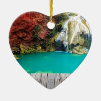 Ornement Cœur En Céramique Miscellaneous - Zen Waterfall Patterns Three