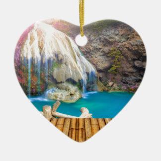 Ornement Cœur En Céramique Miscellaneous - Zen Waterfall Patterns Twenty