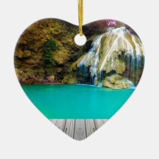 Ornement Cœur En Céramique Miscellaneous - Zen Waterfall Patterns Two