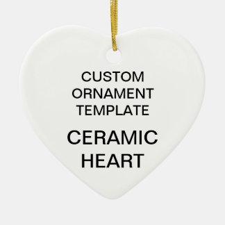 Ornement Cœur En Céramique Modèle fait sur commande d'ornement de Noël de