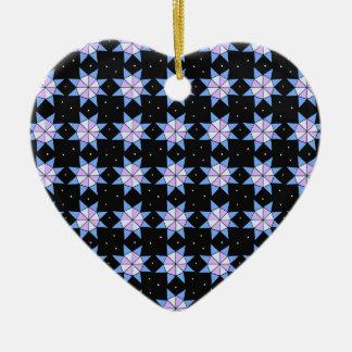 Ornement Cœur En Céramique Molettes géodésiques
