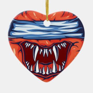 Ornement Cœur En Céramique Monstre Apple
