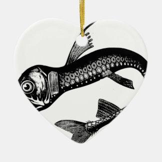 Ornement Cœur En Céramique Monstre de mer