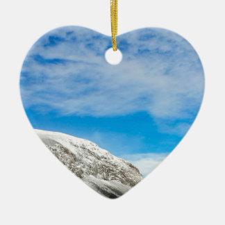 Ornement Cœur En Céramique Montagnes blanches New Hampshire