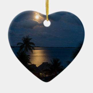 Ornement Cœur En Céramique Moon on bora bora