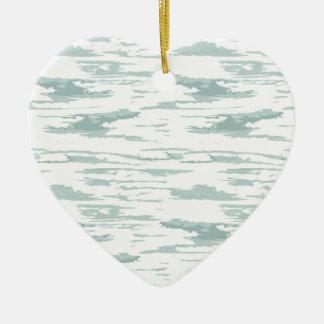 Ornement Cœur En Céramique Motif 10 de courses de brosse