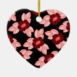 Ornement Cœur En Céramique Motif 3 de Noël