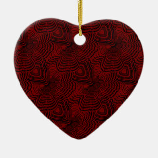 Ornement Cœur En Céramique Motif 4 de Noël