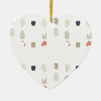 Ornement Cœur En Céramique Motif abstrait de formes dans les couleurs en