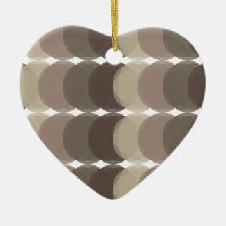Ornement Cœur En Céramique Motif de Brown