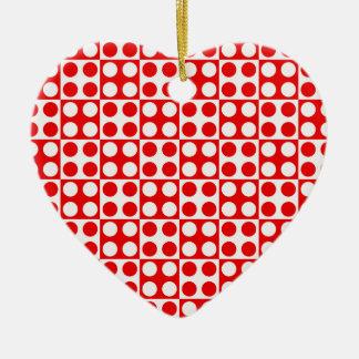 Ornement Cœur En Céramique motif de point #3