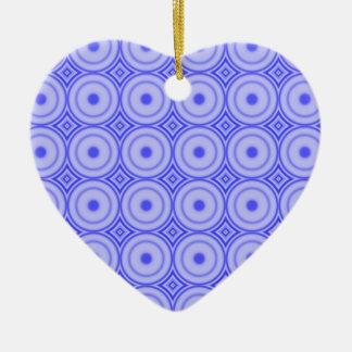 Ornement Cœur En Céramique motif de point pourpre