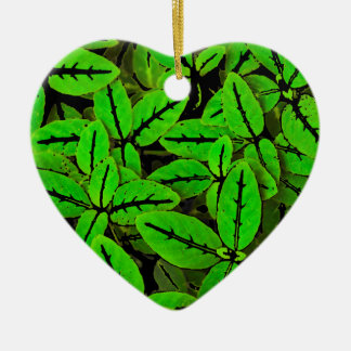 Ornement Cœur En Céramique Motif d'impression de nature