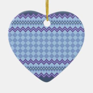 Ornement Cœur En Céramique Motif géométrique