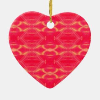 Ornement Cœur En Céramique Motif très Girly de pêche de roses indien de bruit