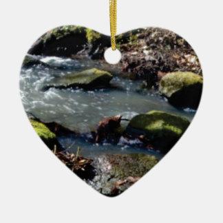 Ornement Cœur En Céramique mousse dans The Creek