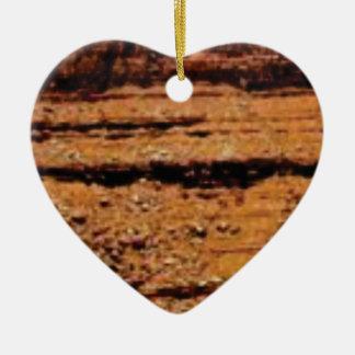Ornement Cœur En Céramique mur posé de gravier