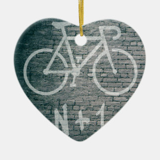 Ornement Cœur En Céramique N+1 graffiti de vélo