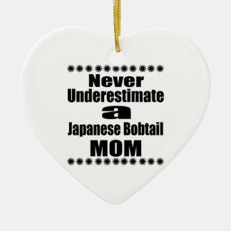 Ornement Cœur En Céramique Ne sous-estimez jamais la maman japonaise de queue