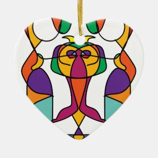 Ornement Cœur En Céramique noa coloré d'illustration d'art de cirque