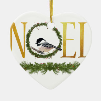 Ornement Cœur En Céramique Noel