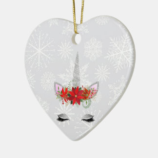Ornement Cœur En Céramique Noël de la licorne de FD ornemente 53086C3