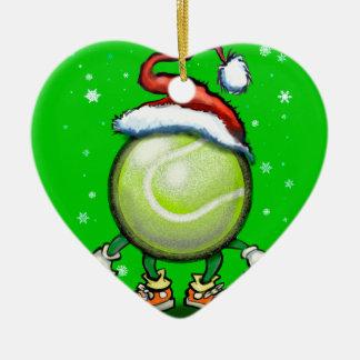 Ornement Cœur En Céramique Noël de tennis