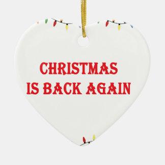 Ornement Cœur En Céramique Noël est de retour encore