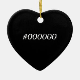Ornement Cœur En Céramique Noir #000000